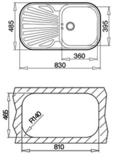 Productos para el hogar por marca medidas de fregaderos - Fregadero teka stylo ...