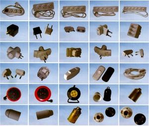 Material Eléctrico, clavija, regleta, ficha, empalme, cinta, aislante, coarrugado, cable